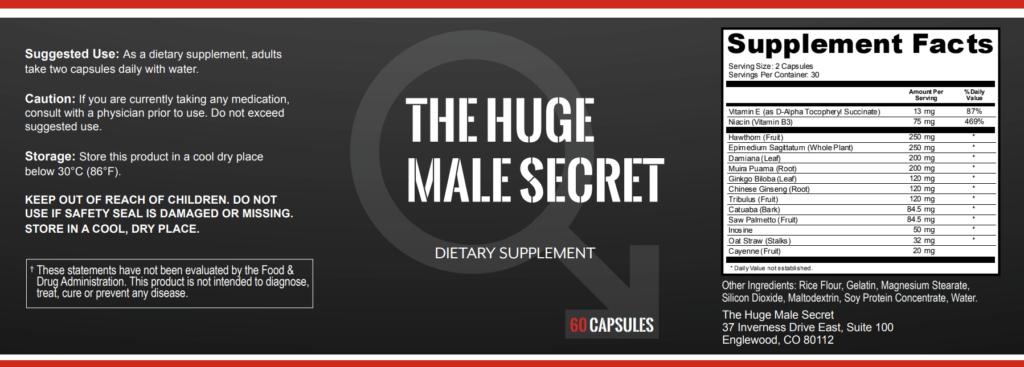 huge male Secret label