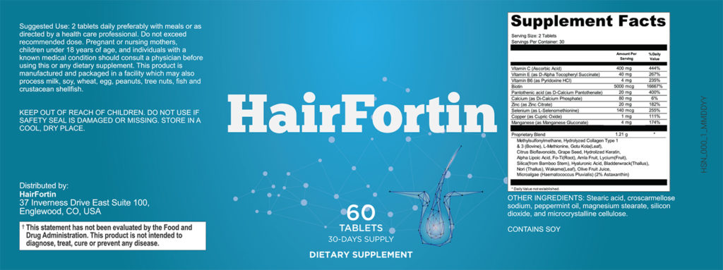 HairFortin Pills Label