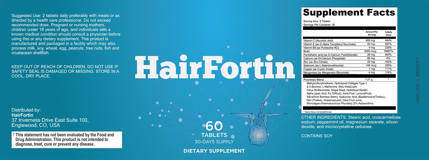HairFortin Pills Label