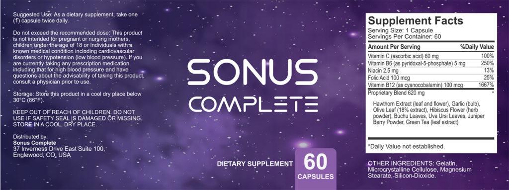 Sonus Complete Ingredients