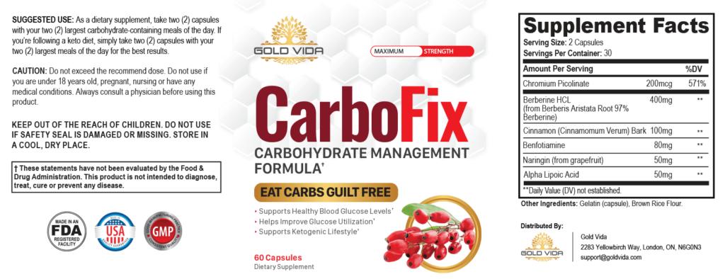carbofix label
